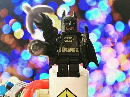 Batman, Lego, Toys, Play, Glitter, Movie, Childhood