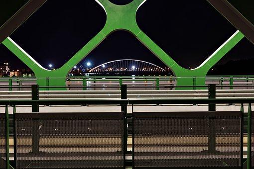 Bridge, Bratislava, Danube, River, In The Evening