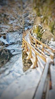 Gorge, Winter, Landscape, Snow, Nature, Rock, Ice