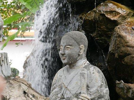 Buddhist, Sculpture, Calm, Zen, Art, Fountain