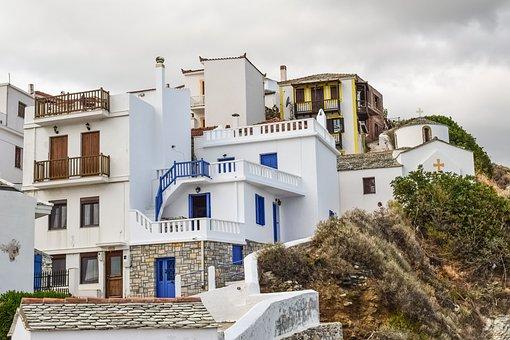 Greece, Skopelos, Chora, Island, Greek, Sporades