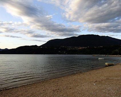 Caldonazzo, Lake, Sunset, Sky, Italy, Water, Summer