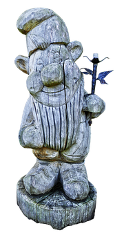 Sculpture, Holzfigur, Dwarf, Wood Dwarf, Wood Carving
