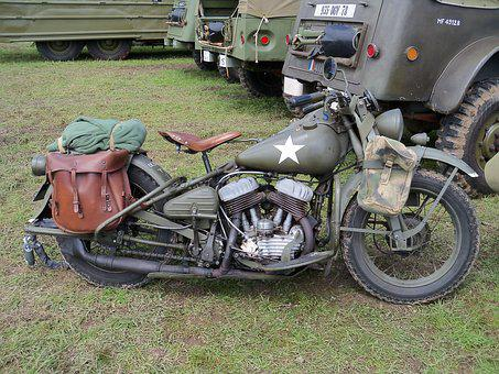 Motorcycle Military, Wwii, Normandy