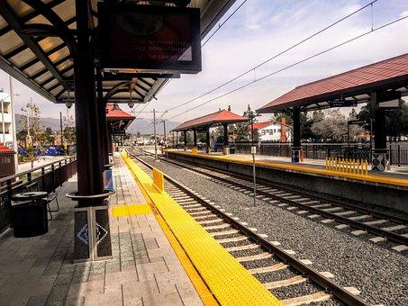 Azusa Gold Line Station, Light Rail, Metro Rail