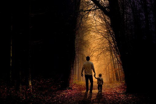 Father, Son, Walk, Child, Boy, Family, Parent, People