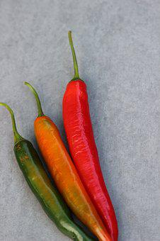 Chili, Spices, Sharp, Pods, Green, Red, Orange, Spicy