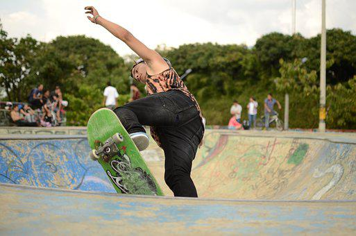 Skate, Sport, Urban, Street, Teens, City, Wheels