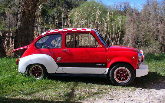 Seat, Six Hundred, Red, Abarth, Classic