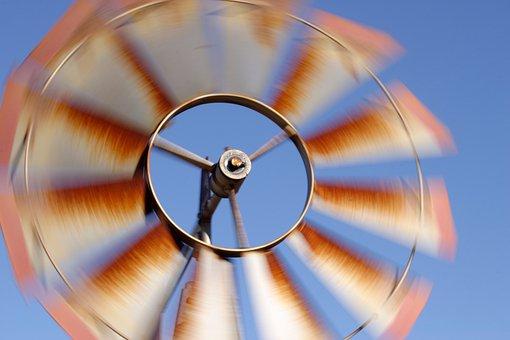 Windmill, Summer, Breeze, Wind, Motion, Countryside
