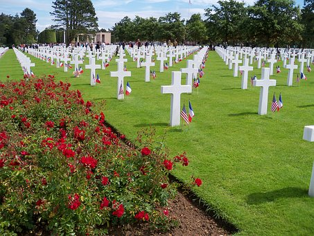 War Cemetery, Omaha Beach, Landing Normandy, Dday