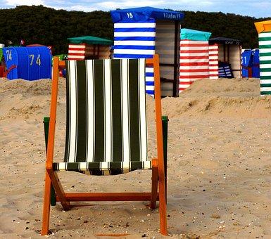 Deck Chair, Beach Tents, Striped, Colorful, Beach
