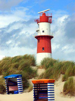 Electric Lighthouse, Red White, Beach Tent, Borkum