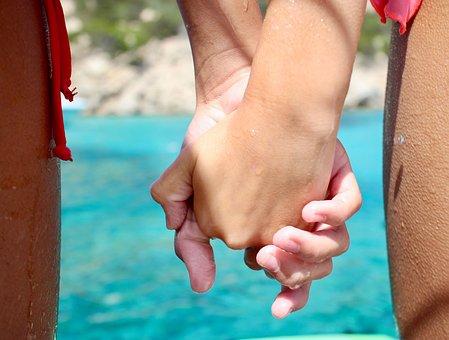 Friendship, Love, Feeling, Hands, Blue, Holiday, Joy