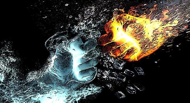 Comic, Fight, Hand, Battle, Bang, Symbol, Attack, Fire