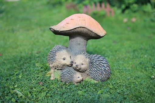 Garden Figures, Garden, Vegetable Garden, Mushroom