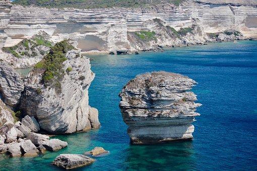 Landscape, Corsica, Bonifacio, Rocks, Cliff, Holiday