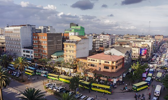 Nairobi, Kenya, Street, Crowded, Africa, City, Urban