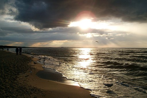 Sunset, Landscape, The Coast Of The Baltic Sea, View