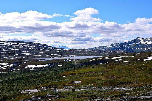 Lapland, Plateau, Sweden, Clouds, Sky, Nature