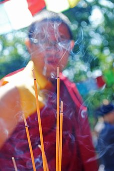 Buddhist, Incense, Monk, Buddhism