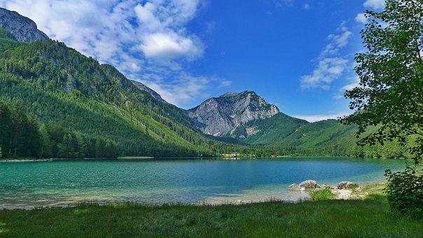 Lake, Mountains, Landscape, Nature, Green-blue, Austria