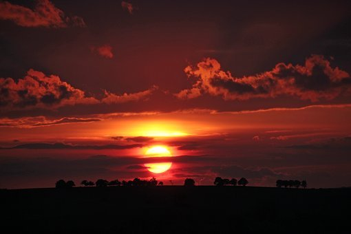 Sunset, Evening Sky, Afterglow, Nature, Landscape