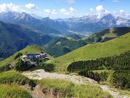 La Salette, Mountains, Sky, Nature, Top View, The Alps