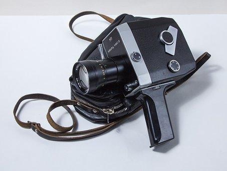 Movie Camera, 24 Mm, Retro, Old, Nostalgia, Antiques