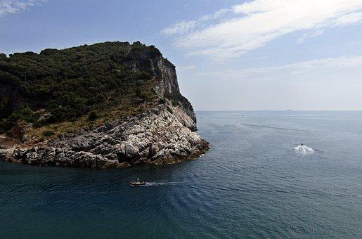 Palmaria, Liguria, Italy, Island, Sea, Sky, Boats