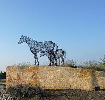 Art, Sculpture, Texas, Horses