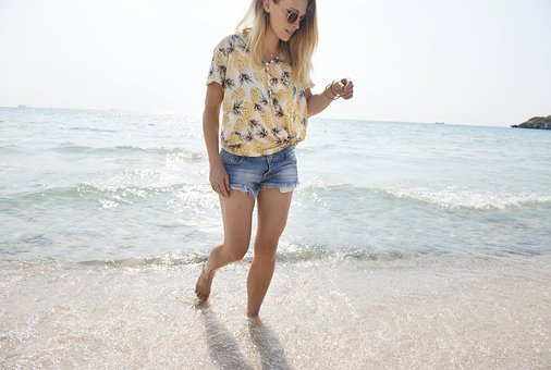 Shore, Walking, Freedom, Tranquil Scene, Ocean, Beach