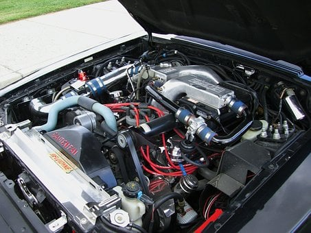 Ford, Supercharged, Small Block Engine, Chrome, Auto