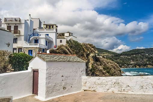 Greece, Skopelos, Chora, Island, Greek, Sporades