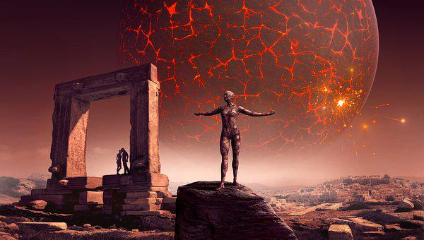 Fantasy, Science Fiction, Surreal, Planet, Statue