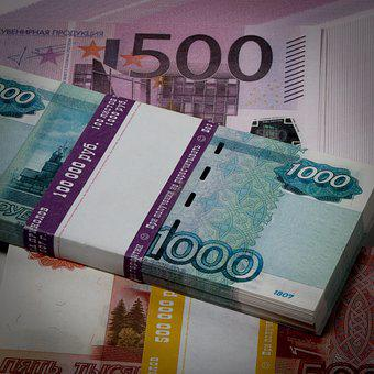 Ruble, Money, Thousand Rubles, Russian, Paper Money