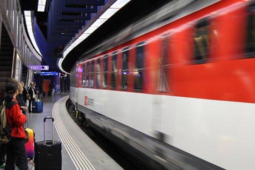 Train, Railway Station, Seemed, Rail Traffic