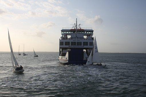 Ferry, Sea, Sky, Travel, Boat, Water, Ship, Ocean