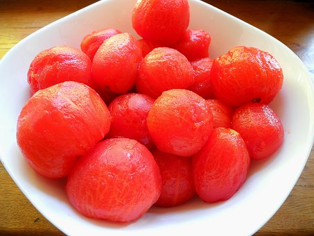 Tomatoes, Vegetables, Peeled Tomatoes, Cooking, Red
