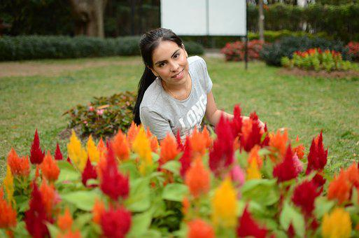 Flowers, Women, Nature, Flower, Happy, Wedding, Rosa