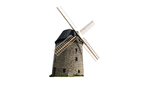 Windmill, Isolated, Old, Turn, Wind Power, Mill