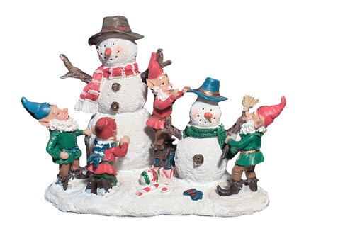 Snow Man, Elves, Deco, Decoration, Christmas, Winter