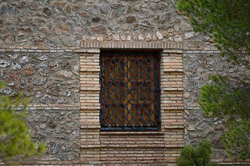 Window With Grate, Grating, Window, Wrought Iron