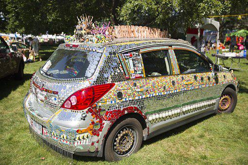 Ohio, Car, Decoration, Art, Columbus, Vehicle