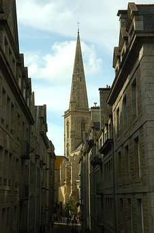 St Malo, Brittany, France, Cathedral, Fortress