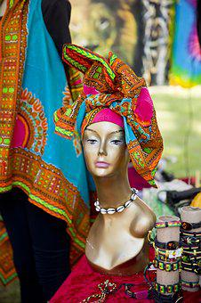 Scarf, Africaan, Woman Scarf African, Clothes, Jazz