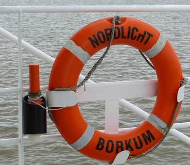 Lifebelt, Shipping, Security, Sea