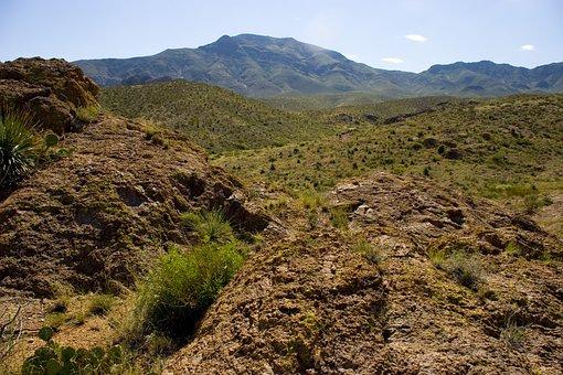 Hiking, Hike, Mountain, Desert, Nature, Adventure