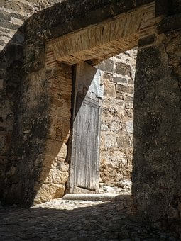 Castle, Ruins, Denia, Spain, Door, Doorway, Building