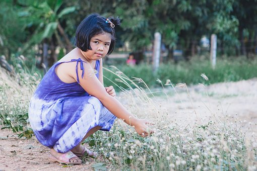 Girl, Young, Short Hair, Dressed Up, Kg